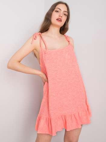 Fluo koralowa sukienka Synthia