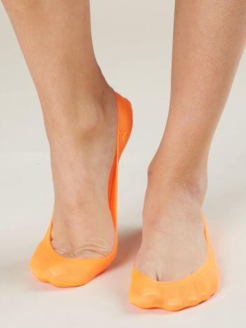 Fluo pomarańczowe skarpetki do balerinek