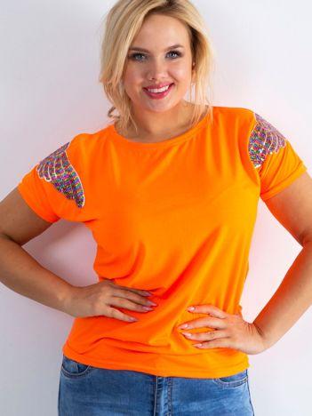 Fluo pomarańczowy t-shirt Magically PLUS SIZE