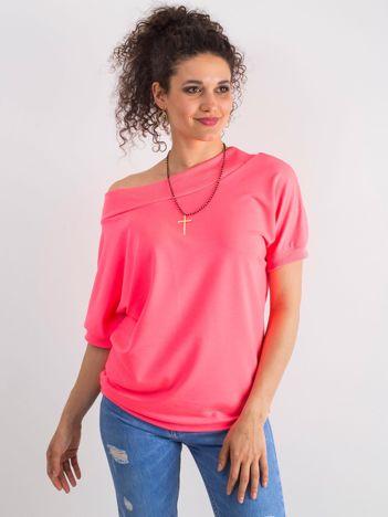 Fluo różowa bluzka Lemontree