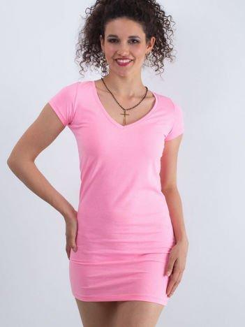 Fluo różowa sukienka Privilage