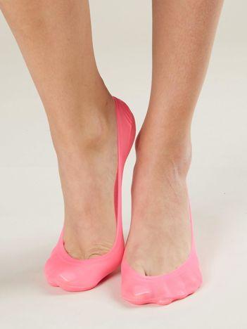 Fluo różowe skarpetki do balerinek