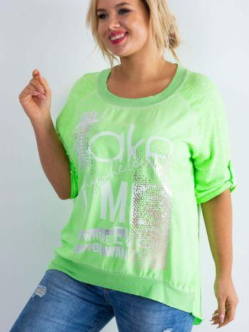 Fluo zielona bluzka Presence PLUS SIZE
