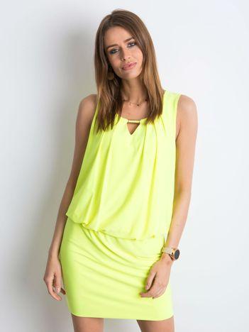 Fluo żółta sukienka Flawless