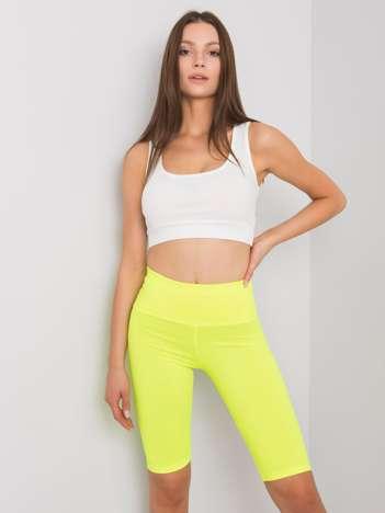 Fluo żółte szorty kolarki Serena