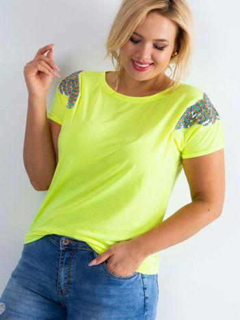 Fluo żółty t-shirt Magically PLUS SIZE