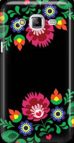 Funny Case ETUI SAMSUNG J5 J500 FOLK BLACK