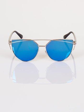 GLAM ROCK srebrne okulary przeciwsłoneczne CAT EYE HIT !