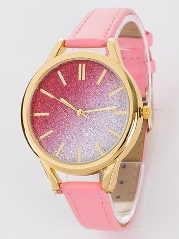 GLITTER OMBRE różowy zegarek damski