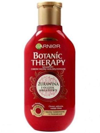 Garnier Botanic Therapy Szampon do włosów farbowanych i z pasemkami Żurawina i Olejek Arganowy 400 ml
