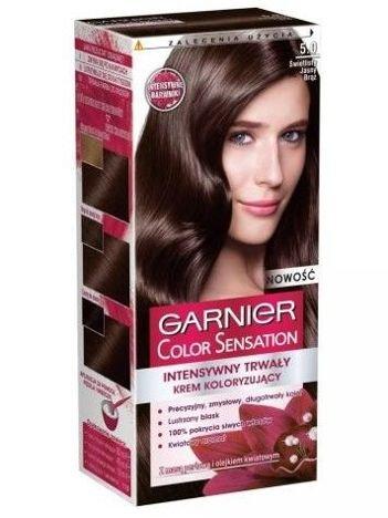 Garnier Color Sensation Krem koloryzujący do włosów 5.0 Świetlisty Jasny Brąz
