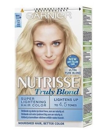 Garnier Nutrisse Farba do włosów nr 111+ Bardzo Bardzo Jasny Popielaty Blond Superrozjaśnijący