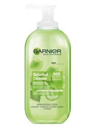 Garnier Skin Naturals Botanical Żel odświeżający do mycia twarzy Grape Extract  200 ml