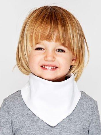 Gładka chustka na rzep dla dziewczynki biała