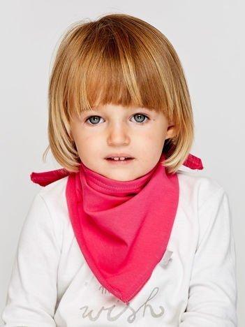 Gładka trójkątna chustka dla dziewczynki różowa