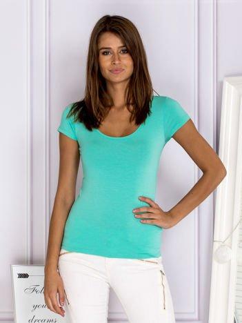 Gładki t-shirt zielony