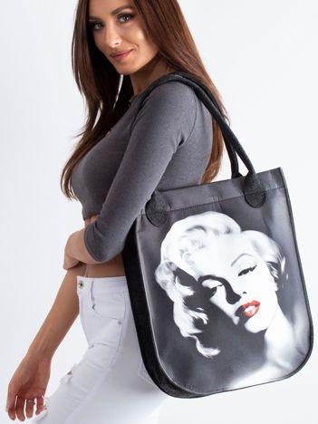 Grafitowa filcowa torba z Marilyn Monroe