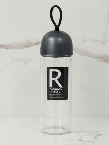 Grafitowa szklana butelka