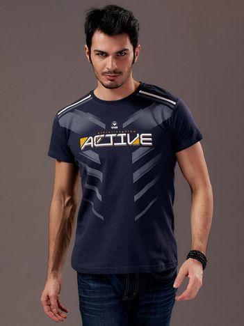 Grafitowy t-shirt męski Active