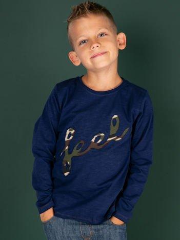 Granatowa bawełniana bluzka dla chłopca