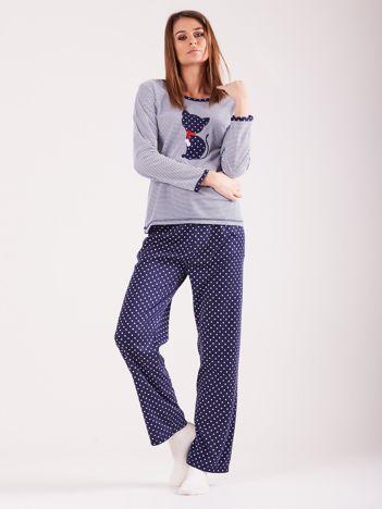 Granatowa bawełniana piżama