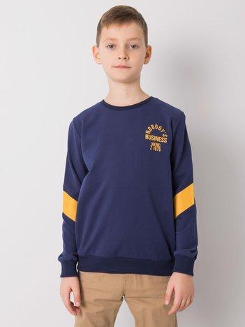 Granatowa bluza dla chłopca bez kaptura