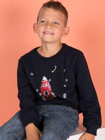 Granatowa bluza dresowa dla chłopca