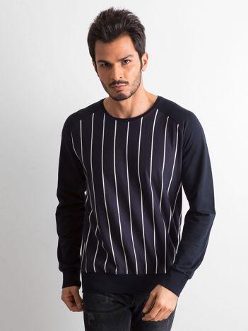 Granatowa bluza męska w paski