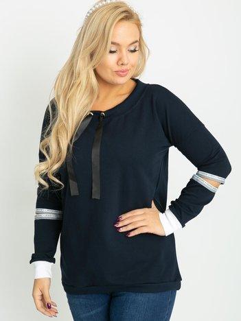 Granatowa bluza plus size Save