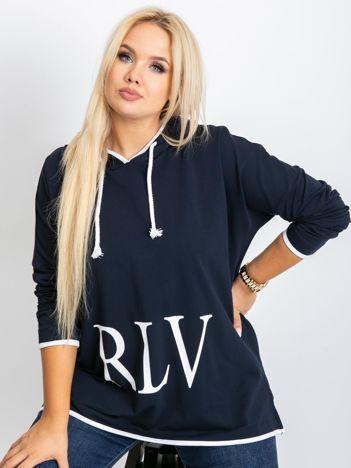 Granatowa bluza plus size Skip