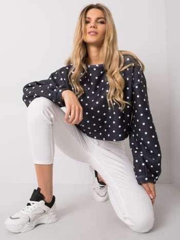 Granatowa bluza w groszki Cairi