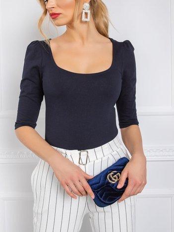 Granatowa bluzka Ines