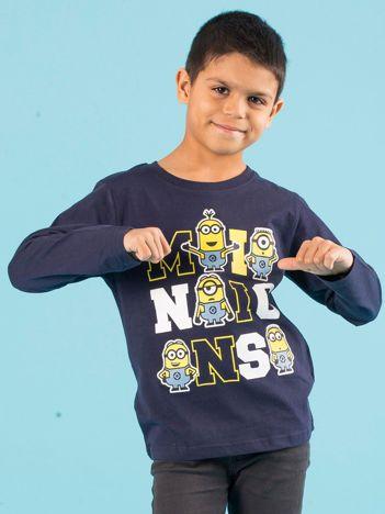 Granatowa bluzka dziecięca z nadrukiem MINIONKI