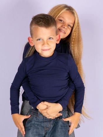 Granatowa bluzka dziecięca z półgolfem