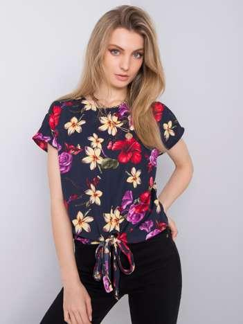 Granatowa bluzka w kwiaty Tiffany FRESH MADE