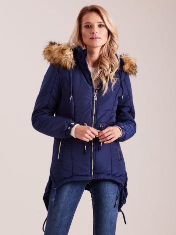 Granatowa damska kurtka na zimę