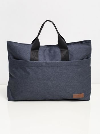 Granatowa duża torba na laptopa