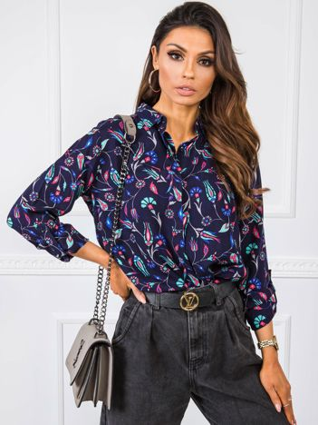 Granatowa koszula Jenny RUE PARIS