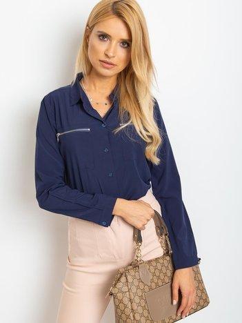 Granatowa koszula Layla