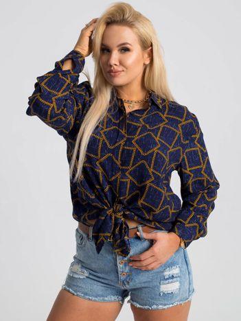 Granatowa koszula plus size Daliah RUE PARIS