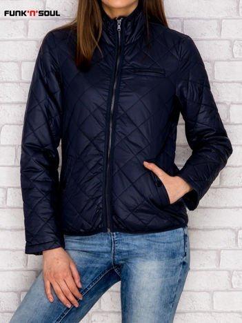 Granatowa pikowana kurtka przejściowa FUNK N SOUL
