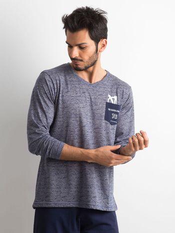 Granatowa piżama męska