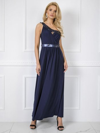 Granatowa sukienka Ashley