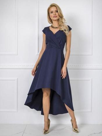 Granatowa sukienka Iva