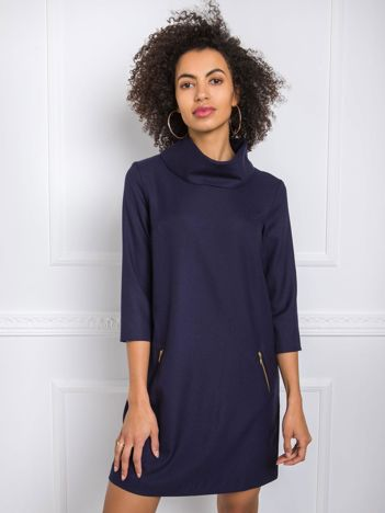 Granatowa sukienka Milenne RUE PARIS