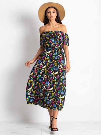 Granatowa sukienka Minerality