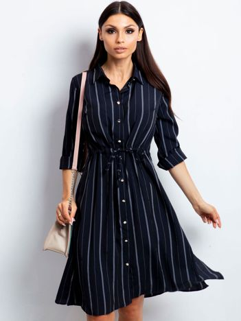 Granatowa sukienka Recall