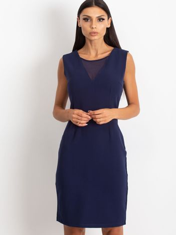 Granatowa sukienka Theme