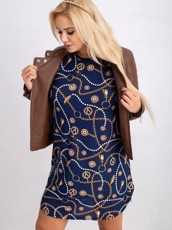 Granatowa sukienka plus size Secretly