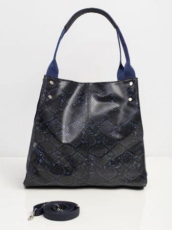 Granatowa torebka faux leather
